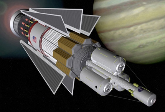 Updated modern design for a nuclear pulse propulsion spacecraft